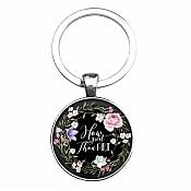 Key Ring Pendant Scripture How Great Thou Art Inspirational Motivational Quote Silver JW337