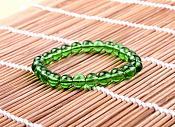 Stretchy Bracelet Green Beads Costume Jewelry JW64