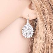 Rhinestone Earrings Teardrop Style Fashion Costume Jewelry JW83
