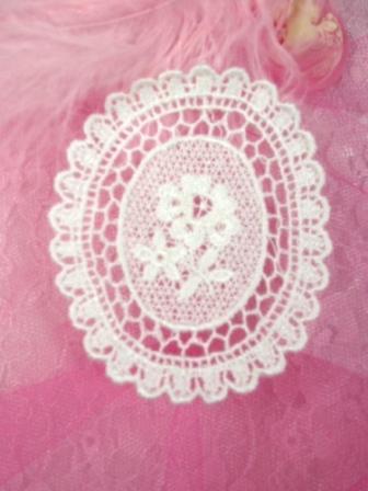 """L58 White Venice Victorian Lace Floral Applique 3"""""""
