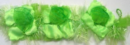 E5665 Lime Green Flower Stretchy Sewing Trim