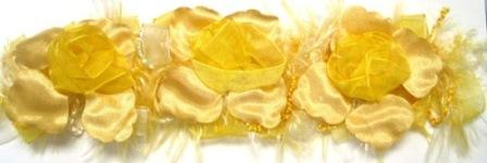 E5665 Yellow Flower Stretchy Sewing Trim