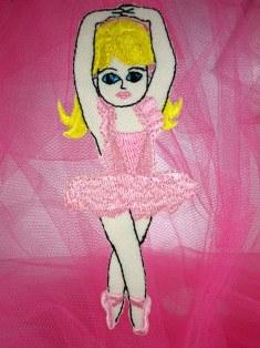 """LC1432 Ballerina Girl Ballet Dance Embroidered Applique 4.25"""""""