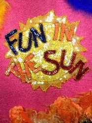 "LC1503 Sunshine ""Fun In The Sun"" Sequin Beaded Applique 7.5"""