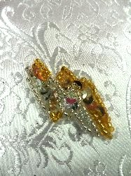 """LC1546 Lighting Silver Gold Beaded Sequin Applique 1.5"""""""