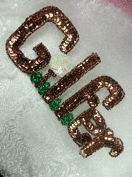 LC1552 GOLFER MultiColor Beaded Sequin Applique 8""