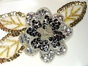 """LC1656 Vintage Floral Applique Sequin beaded Flower Clothing Patch 5"""""""