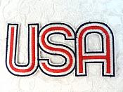 """LC1821 Patriotic USA Embroidered Iron on Applique 4.75"""""""
