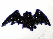 """LC1849 Flying Bat Sequin Applique Sewing Crafts Costume Patch 5"""""""
