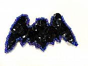 LC1848 FREE  Flying Bat Sequin Applique Sewing Crafts Costume Patch 2.5""