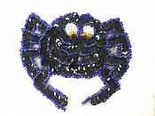 """LC1850 Spider Sequin Applique Beaded Patch for Costumes and Crafts 4"""""""