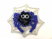 """LC1852 Spider in Web Sequin Applique w/Beads 2"""""""