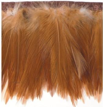 """RME5105-16 REMNANT  Auburn Marabou Feather Sewing Trim 3"""""""