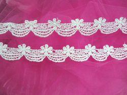 "C45  White Venise Lace Victorian Sewing Trim 1-1/8"""