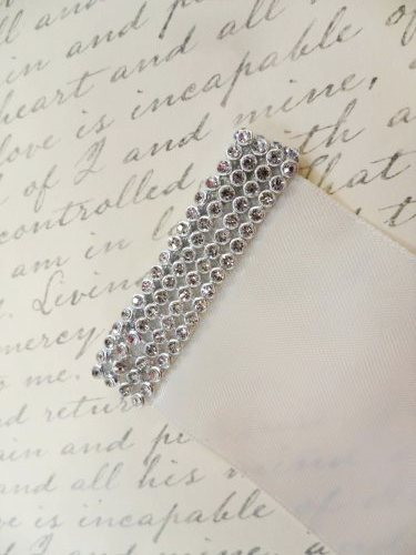 Set of Two Rhinestone Ends for your Bridal Sash Ribbon