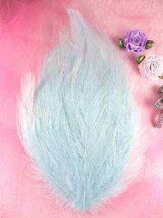 MR002  REDUCED Baby Blue Feather Pad Applique 7""