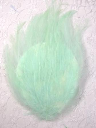 """MR002  Mint Green  Feather Pad Applique 7"""""""