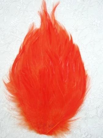 """MR002  Orange  Feather Pad Applique 7"""""""