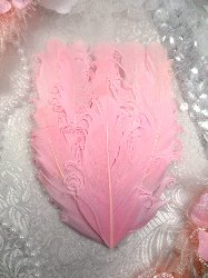 MR28 DIY Pink Feather Pad Applique  6""