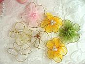 "Set of 7 Flower Appliques 1.5"" (MS165)"