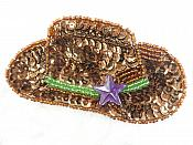 "Sequin Applique Cowboy Hat 3.5"" (MS194)"