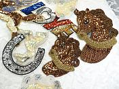 Sequin Applique Lot 7 Pieces for one Low Price Sample Pieces Reduced (MS197)