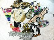 Sequin Applique Lot 12 Pieces for one Low Price Sample Pieces Reduced (MS200)