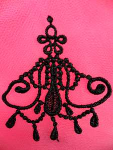 MS75 Black Embroidered Applique 2.5""