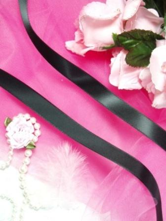 R2  Black Satin Craft Ribbon 5/8""