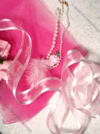 R6  Pink Orangza Satin Edge Craft Ribbon 1.5""