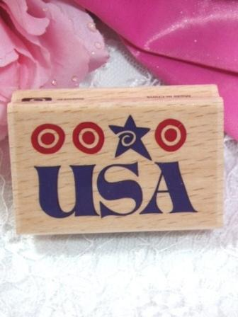 RS9  USA Patriotic Rubber Stamp