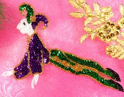 Y18 Joker Mardi Gras Jester  Beaded Sequin Applique 7""