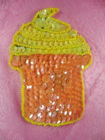 SA27 Reduced Cup Cake Applique Beaded Sequin