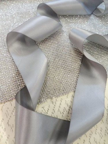 Bridal Sash 1 Inch Ribbon  Do it yourself! Choose Color and optional Rhinestone Ends