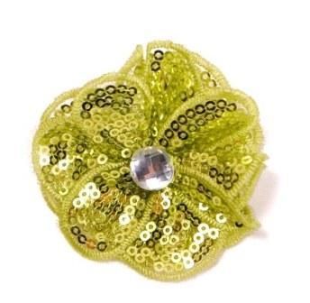 "E3460  Lime Green Jewel Sequin Applique / Pin 2.5"""