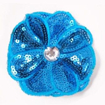 E3460 Turquoise Jewel Sequin Applique / Pin 2.5""