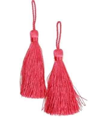 E5524  Set of Two Fuchsia Tassels 3.75""