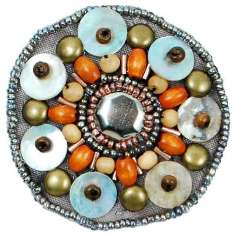 E5860 Multicolor Beaded Shell Applique 2""
