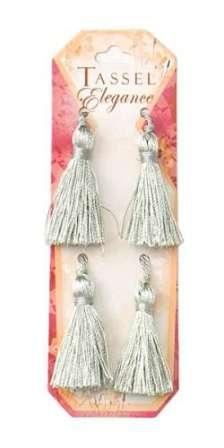 E5970  Set of ( 4 )  Sea Foam Mini Tassels 2""