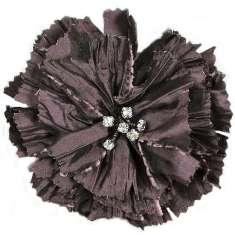 "E5982  Purple Rhinestone Flower Brooch 4"""
