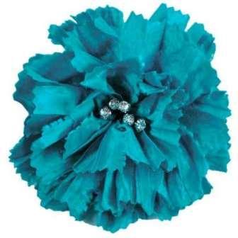 "E5982  Turquoise Rhinestone Florantina Rhinestone Brooch 4"""