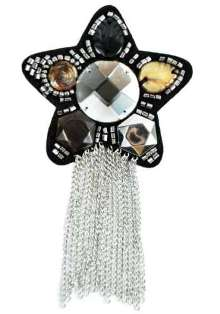 E6008 Star Beaded Brooch with Chains