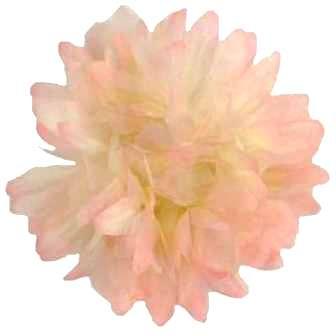 """E6021 Organza Mum Peach Floral  Applique Pin Brooch 4.5"""""""