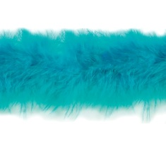 "D6267 Turquoise Marabou Fur Feather Trim 36"" Package Pre-cut"