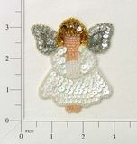 RME868s REDUCED Religious Angel Sequin Beaded Applique 3""