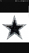 Reserved Listing  Black Silver Star