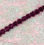 T8280 Fuchsia Flower Sequin Appliques or Trim