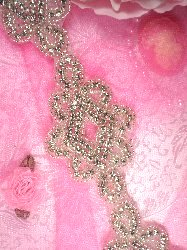 TS67 Renee Silver Beaded Crystal Rhinestone Trim