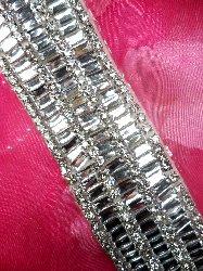 """XR181 Flexible Rhinestone Wide Trim Crystal Clear 2"""""""