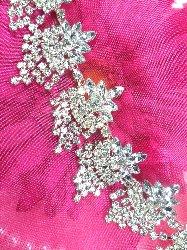 "XR185 Glorious Dangles Crystal Rhinestone Embellishing Trim 1.5"""